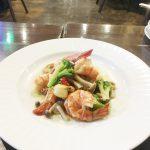 海老と帆立貝のサフラン炒め